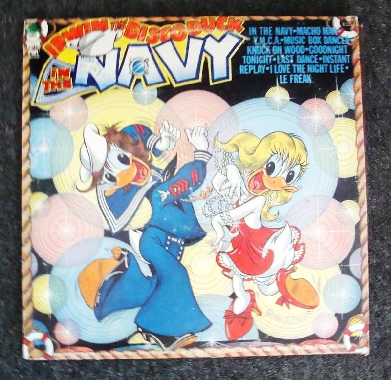 Irwin the Disco Duck IN THE NAVY RECORD - (Collectible)