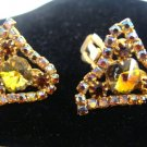Jewel Rhinestone Vintage Clip Earrings - (L@@K!)