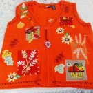 Halloween Harvest Orange Womens Vest Size M - (NICE!)