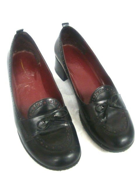 FRANCO SARTO BLACK LEATHER WOMENS LADIES SHOES SIZE 8