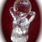 Crystal Angel Candle Holder Figurine