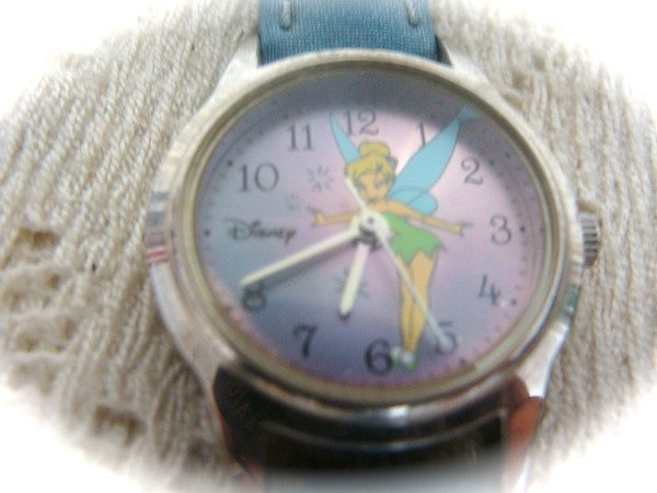 DisneyTinkerbell Girls Womens Ladies  Watch w/ Blue Leather Band