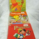 Winnie the Pooch, Tweety & Sylvester, & Pinocchio 1970's Books Set (3)