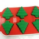 Christmas Tree Mold 6 Cavity Silicone - (NEW)