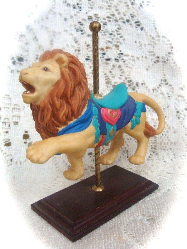 Avon Lion Carousel Collectible