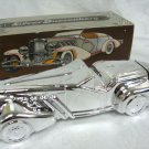 AVON Silver Duesenberg Decanter w/ Wild Country AFTER SHAVE