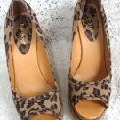 Bamboo Ladies Womans  Leopard Style  High Heel Shoes Size 10