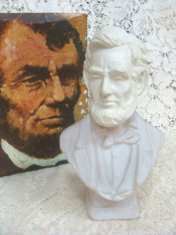 Avon Wild Country   After Shave  President Lincoln Decanter 6 oz.