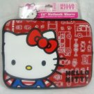"HELLO KITTY 12"" NETBOOK SLEEVE RED - (NEW)"