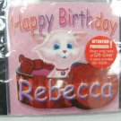 Happy Birthday Rebecca Songs CD - SEALED