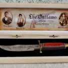 The Outlaws Cutlery Fixed Blade Knife w/ Wood Stand Limited Edition