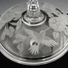 Avon Hummingbird Crystal Candy Dish