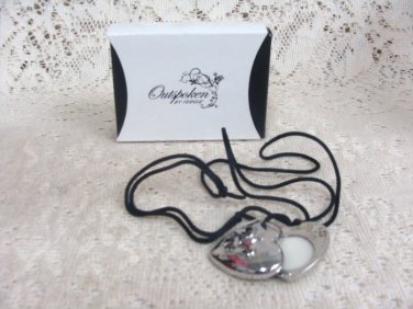 Outspoken Fergie Solid Parfum Heart Necklace (NEW)