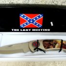 The Last Meeting General Jackson Giant Large Lockback Knife w/ Wood Stand