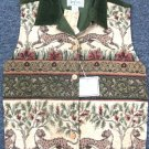 Tan Trums Tapestry Womens Ladies Vest Size S