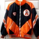 Ed West Mens Windbreaker LOW Orange & Black Jacket XL