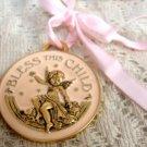 Avon Bless This Child Angel Medallion Girl Pink
