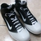 Mens Athletic Black & White Sport Nike Zoom Football Shoes Size 16