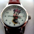 Disney Minnie Mouse Watch w/ Brown Leather Band