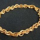 "Avon Goldtone Textured Large Rope Bracelet 7.5"""