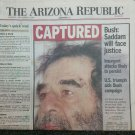 Newspaper Article Sadam Hussein