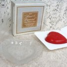 Avon Heart & Diamond  Crystal Dish Valentines  Soap Dish & Soap  5 oz.