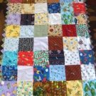 "Hand Crated Quilt 65"" x 41"""