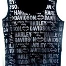 Harley Davidson Unisex Black Tank Top Size XL