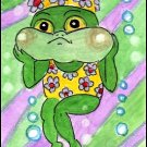 ACEO - Fanny Frog - Patricia Ann Rizzo