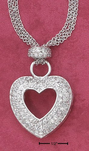 CZ HEART PENDENT AND CHAIN