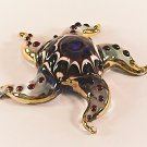 Hand Blown Glass Red Starfish Gilt Art Glass Animal Figurines Thai Gifts