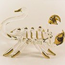Hand Blown Glass Scorpion Gilt Art Glass Animal Figurines Thai Gifts