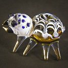 Hand Blown Glass Yellow Spider Gilt #2 Art Glass Animal Figurines Thai Gifts