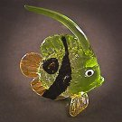 Hand Blown Glass Green Fish Art Glass Figurines Animals Thai Gifts