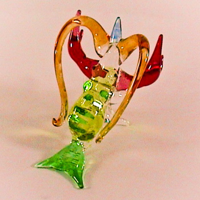 Hand Blown Glass Colorful Lobster Art Glass Figurines Animals Thai Gifts