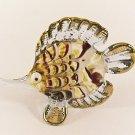 Hand Blown Glass Red-Blue Fish Gilt #3 Art Glass Animal Figurines Thai Gifts