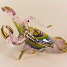 Hand Blown Glass Pink Lobster Gilt Art Glass Figurines Animals Thai Gifts