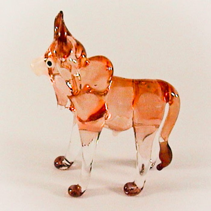 Hand Blown Glass Scarlet Ox (Cow) Art Glass Figurines Animals Thai Gifts