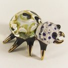 Hand Blown Glass Yellow Spider Gilt #3 Miniature Glass Animal Figurines Thai Gifts