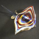 Hand Blown Glass Colorful Ray Fish Gilt #6 (a straight tail) Art Glass Animal Figurines Thai Gifts