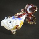 Hand Blown Glass Red-Blue-Yellow Fish Gilt (3 tails) Art Glass Animal Figurines Thai Gifts
