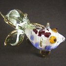 Hand Blown Glass Red-Blue-Green Fish Gilt (3 tails) Art Glass Animal Figurines Thai Gifts