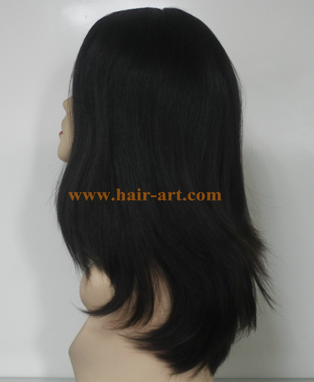 "#1B-18""-Mongolian hair stock jewish wig (Sheitel Kosher wigs)"