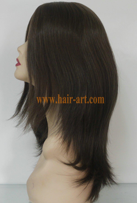 "#8-16""-Mongolian hair stock jewish wig (Sheitel Kosher wigs)"