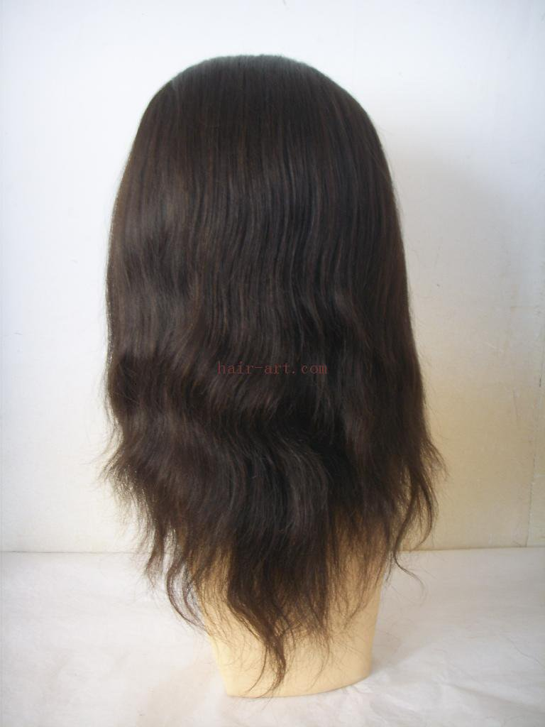 "16""-Indian remy hair stock full lace wig"