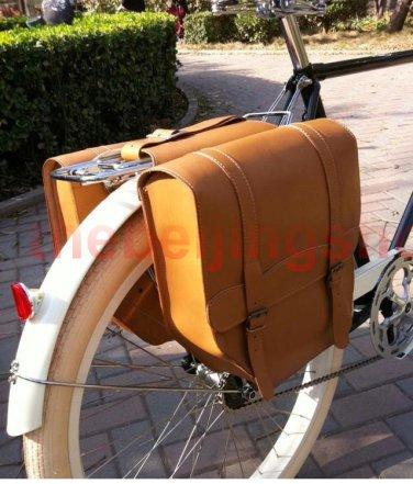 Vintage Bicycle Bike Leather Rear Rack Saddle Bag