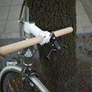 Fixed Gear bike Oak wood Straight Handle bar grip