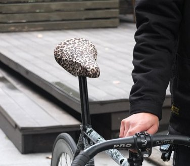 Vurtne Fixed Gear Bike Seat Cover (Leopard /Standard)