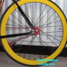 Fixie Fixed Gear bike Wheel Rim Stickers (yellow for 1 wheel)
