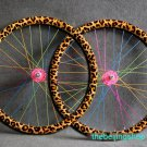 Leopard Fixed Gear bike Wheel Rim Stickers (for 1 wheel)